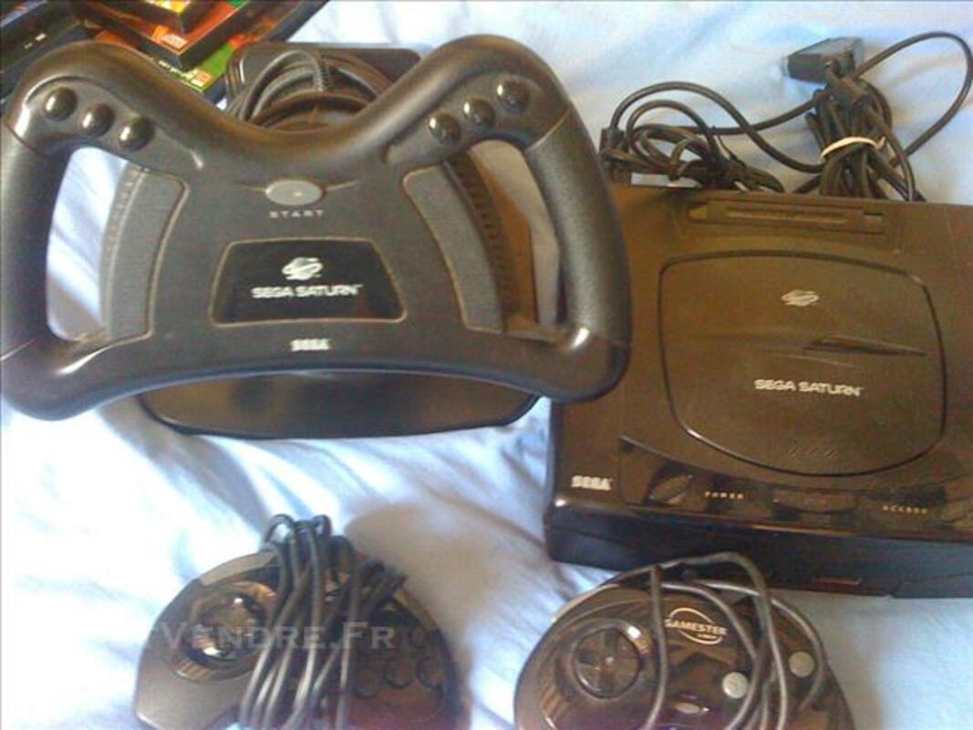 Console sega saturn, manettes, volant et jeux 83118207