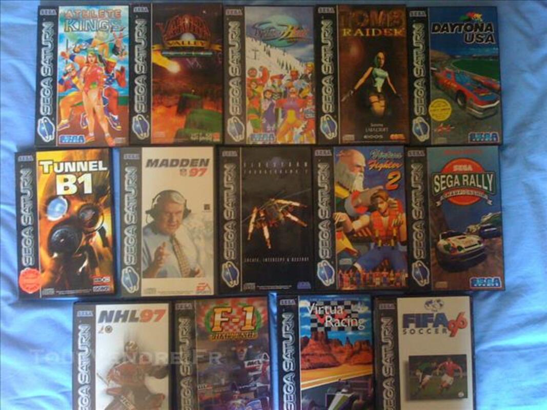 Console sega saturn, manettes, volant et jeux 83118208