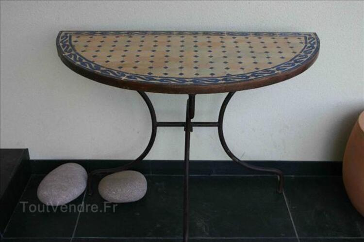 CONSOLE TABLE ZELLIGE FER FORGE - Demi ronde 72955958