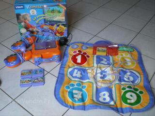 Console vteck + jeu + tapis multisport