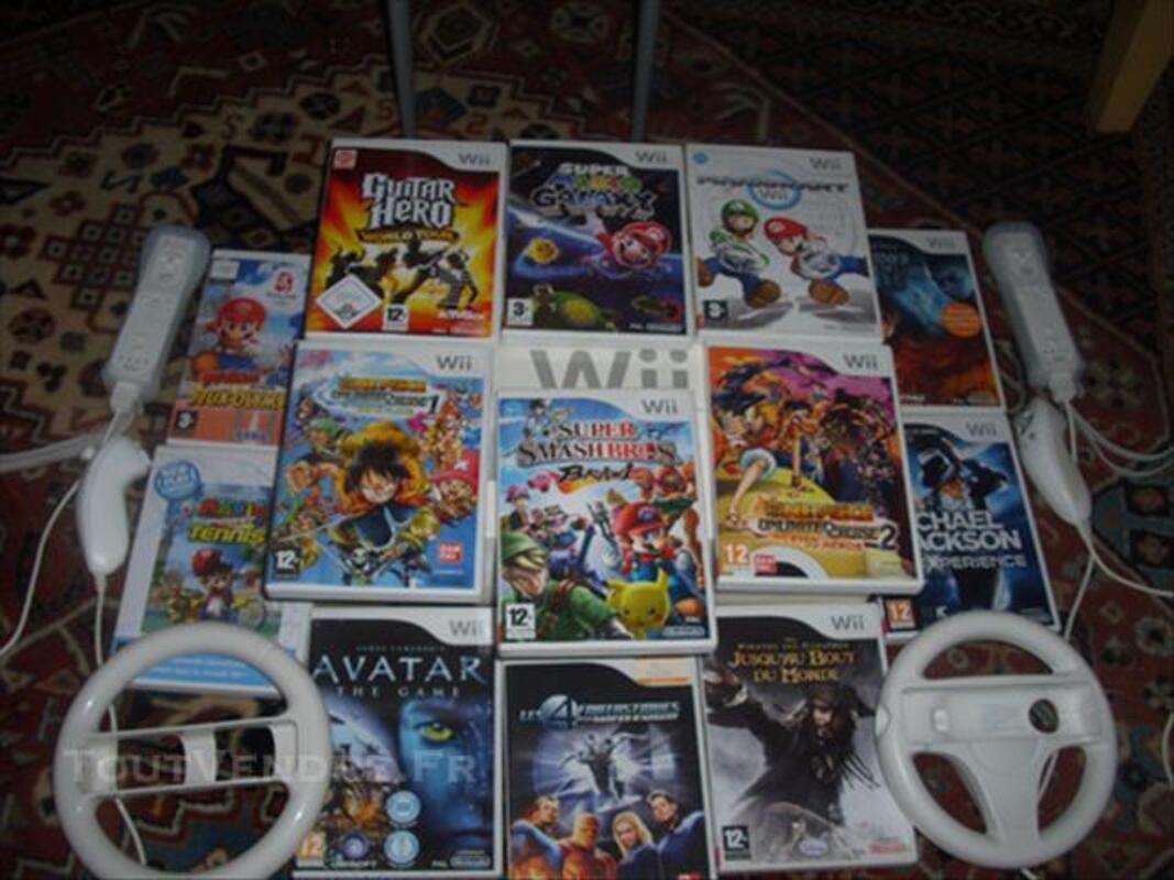 Console WII 2009 d'origine + Accessoires et jeux 83092482