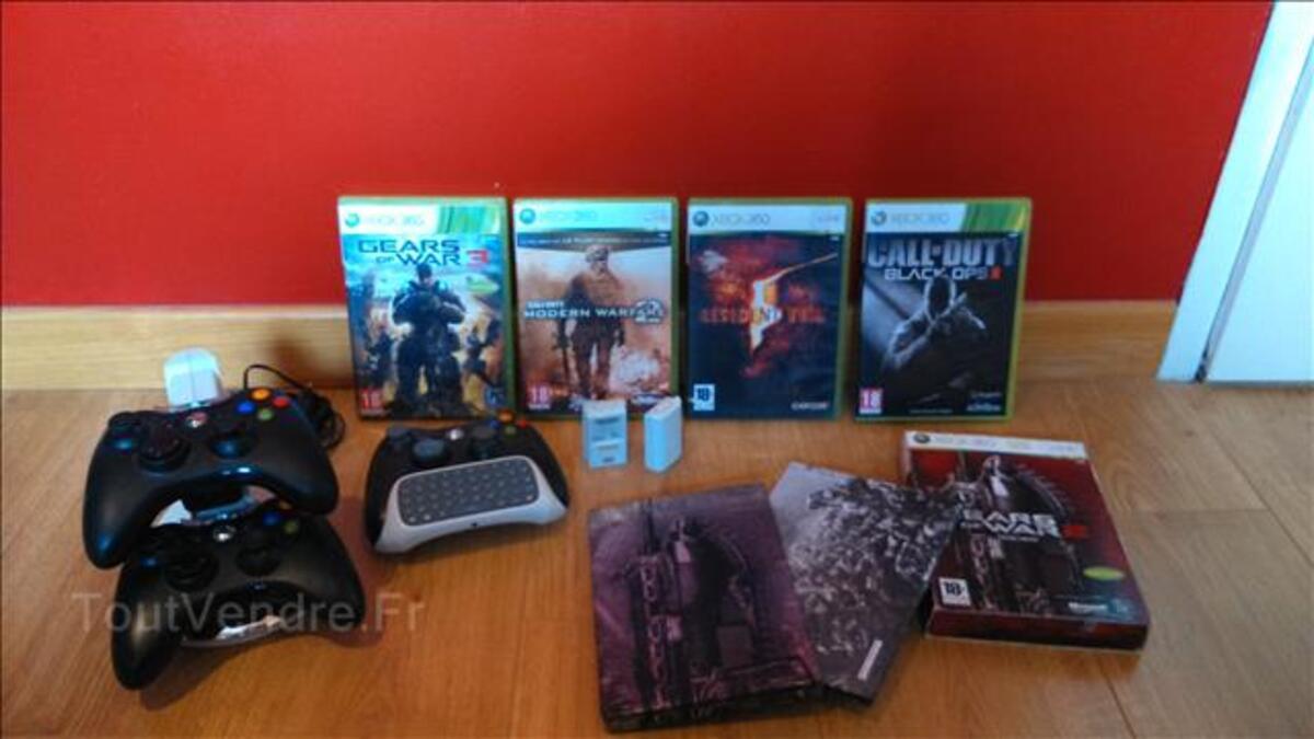 Console Xbox 360 slim 4Go + jeux & accessoires 103368389