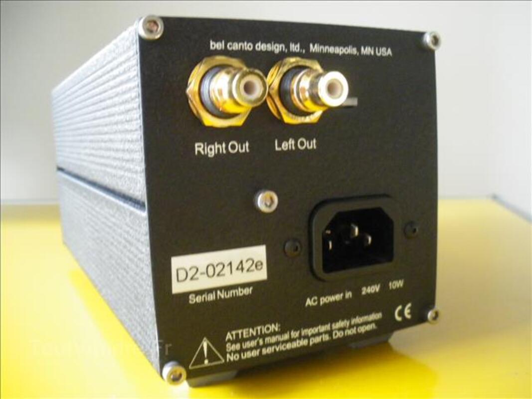 Convertisseur audio hifi bel canto dac 2 99935060