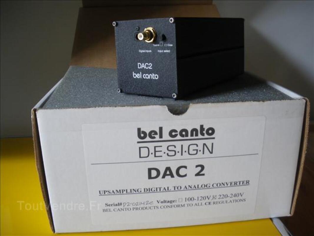 Convertisseur audio hifi bel canto dac 2 99935110