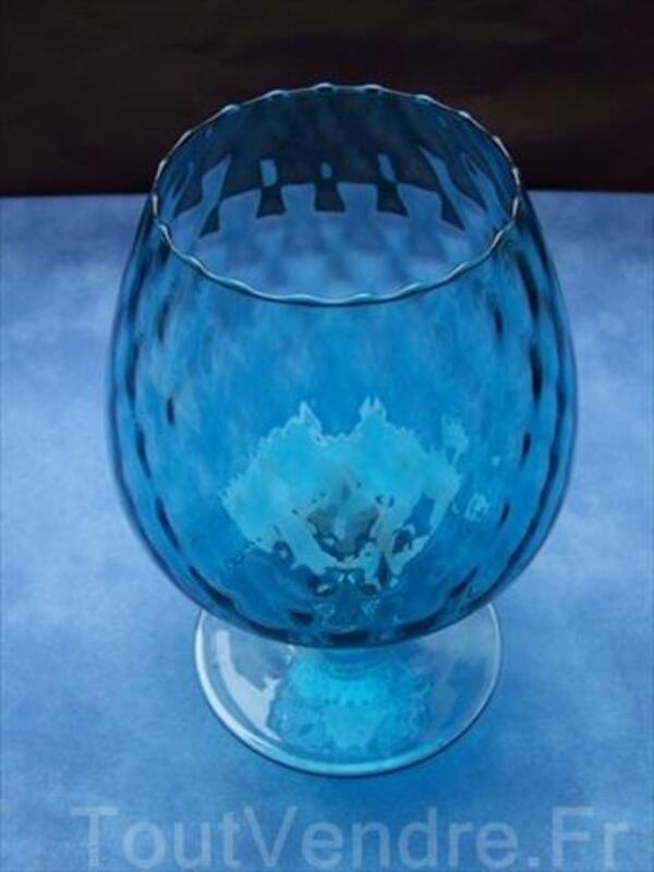 Coupe MURANO bleue en forme de verre à pied 64444855