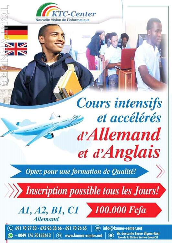 Cours de langue: Anglais et Français 566504567
