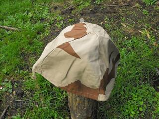 Couvre-casque camouflé désert de l'Armée Française