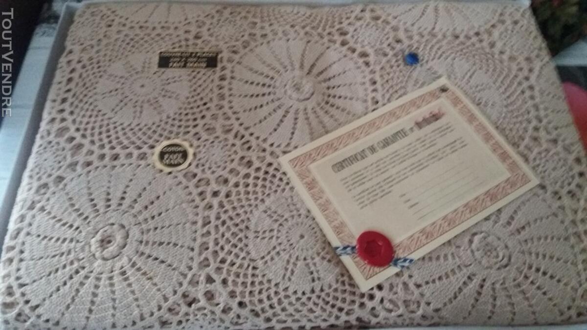 Couvre lit 2 pers et 2 taies d'oreillers coton fait main 122189199