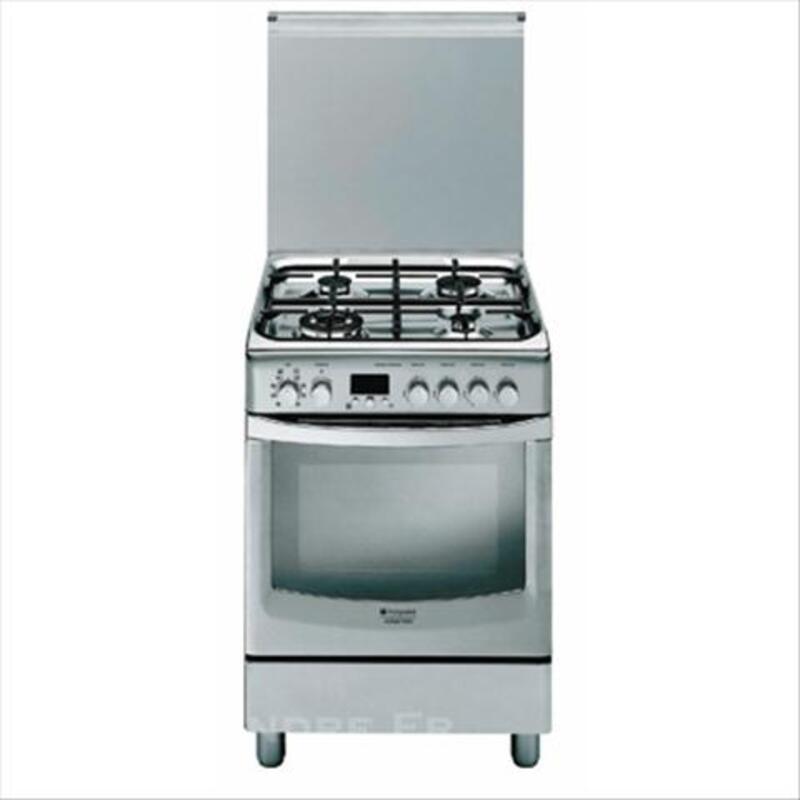 Cuisinière gaz inox  Hotpoint Ariston  four pyrolyse 73981034