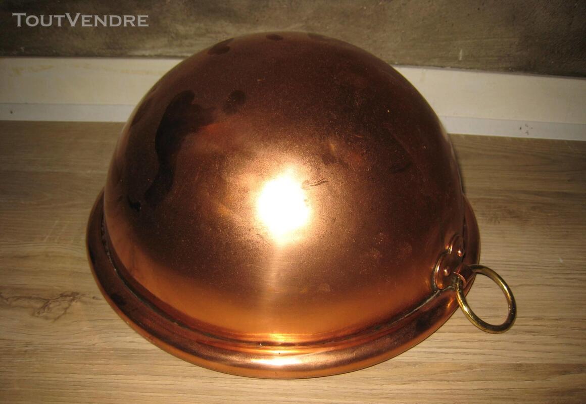 Cul de poule ancien cuivre avec anneau laiton 148668047