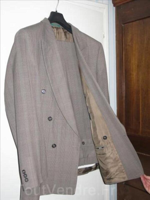 De qualité, Costume Marron style Cachemire T54 TBE 5151818