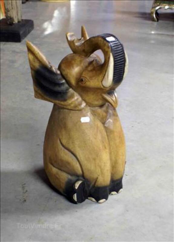 Deco - Eléphant en Acacia - H: 43 cm 35520240