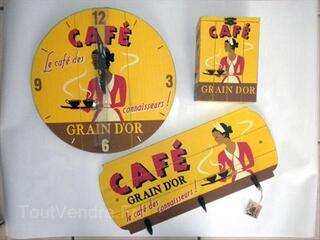 Décoration vintage café grain d'or pour cuisine