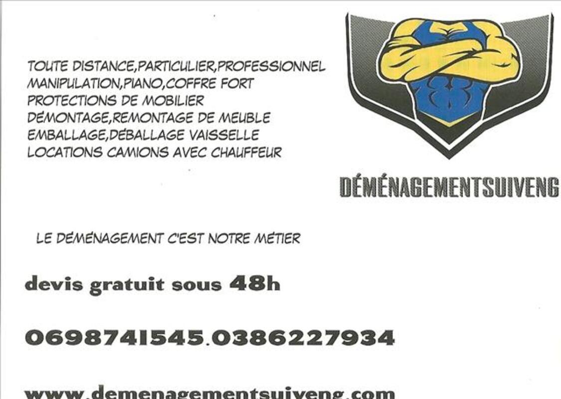 Déménagement toute distance particulier et professionnel 60657475