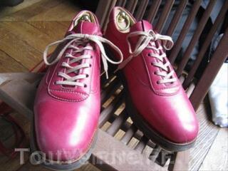Derby femme cuir rose fuchsia  38,5 39 HESCHUNG