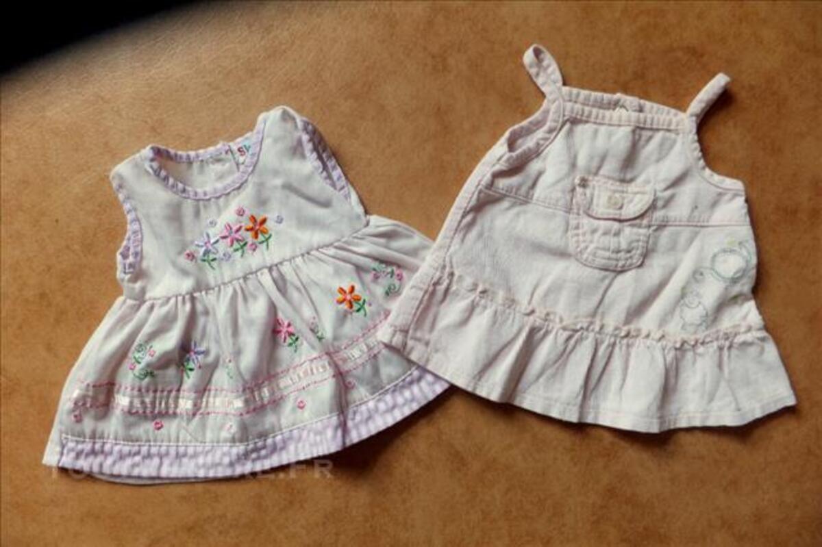 Deux  robes roses 0/3 mois pour bebe/poupee/reborn 84792085