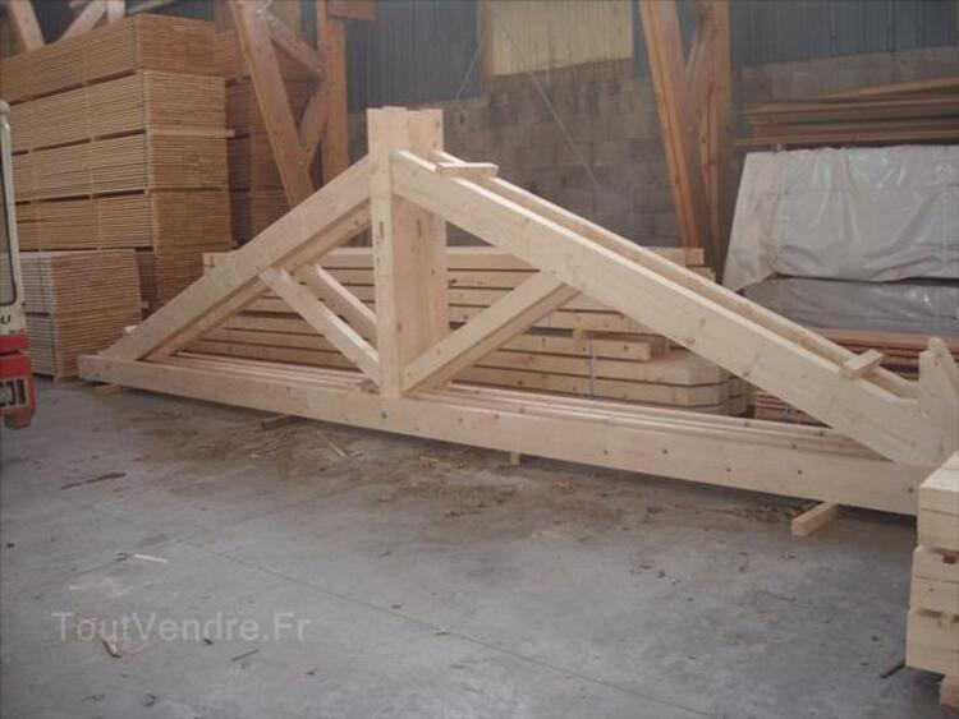Devis prix de la toiture charpente fermette pour 10€ 91073791