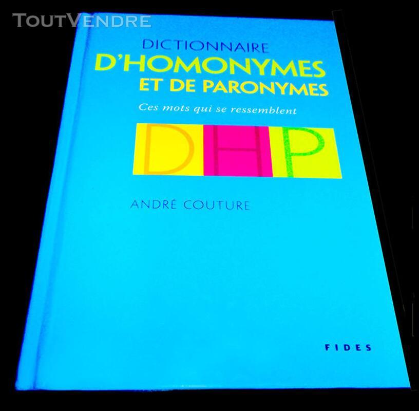 DICTIONNAIRE  D'HOMONYMES  ET DE  PATRONYMES 204653985