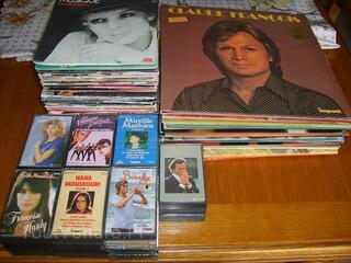 Disques vinyles et cassettes audio