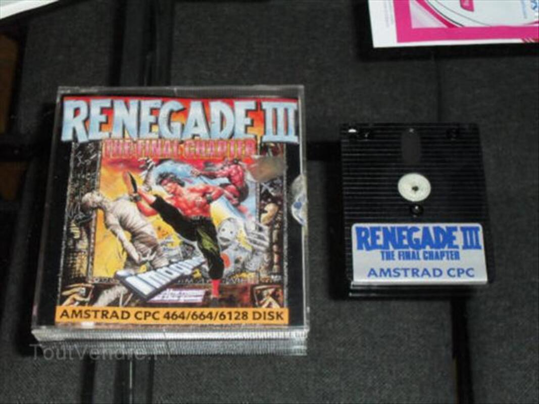 Disquette jeu Renegade 3 pour amstrad pc 6128 64525040