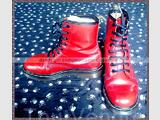 Doc Dr Martens rouge P37 made in england