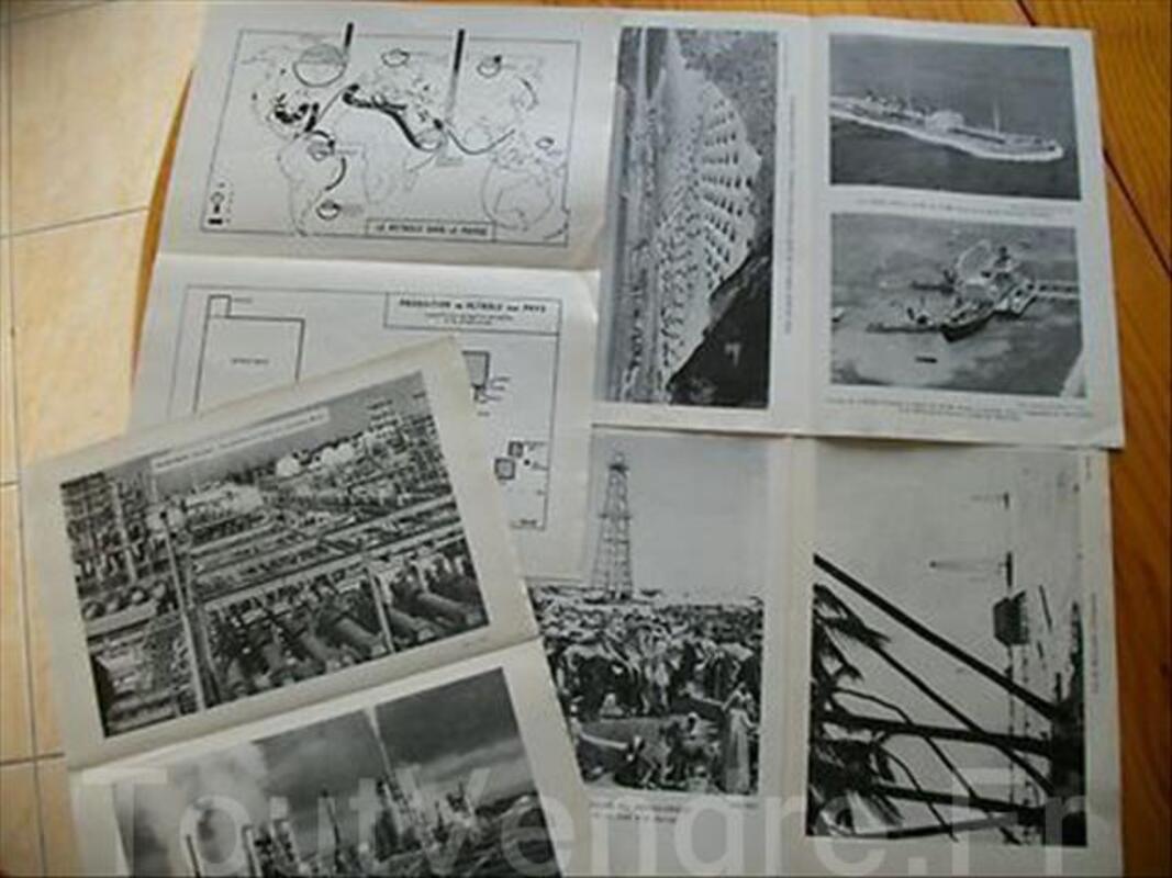 Docs Illustration EDSCO Le Pétrole Carte Photographique 71056517