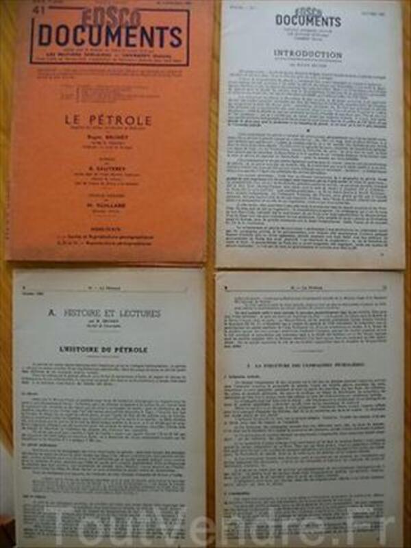Docs Illustration EDSCO Le Pétrole Carte Photographique 71056518