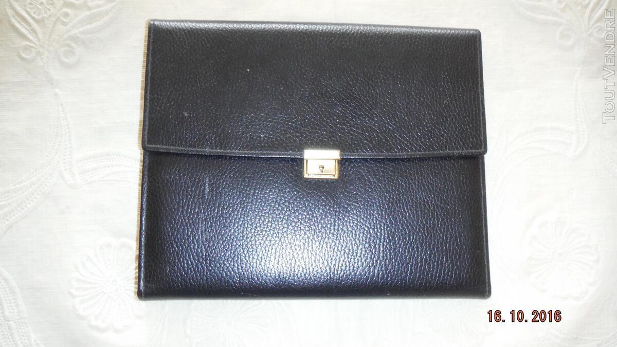 """ECRITOIRE cuir noir """"Le Tanneur"""" 308686579"""