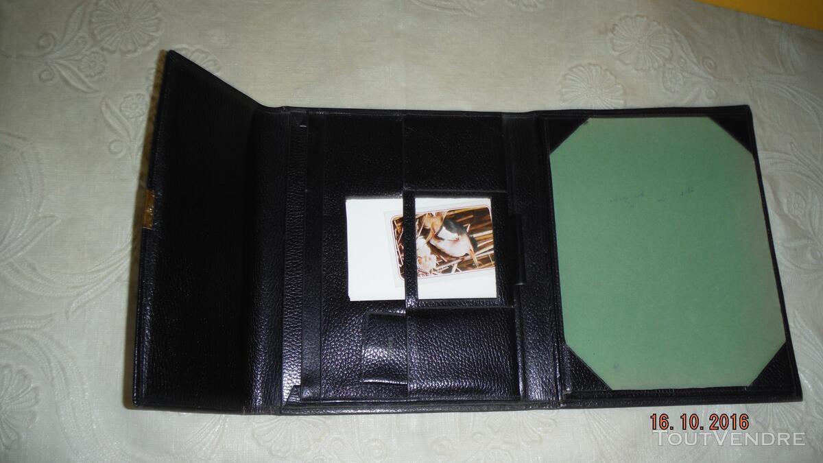 """ECRITOIRE cuir noir """"Le Tanneur"""" 308686582"""