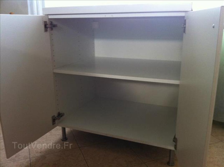 Elément de cuisine FAKTUM blanc 2 portes, 2 étagères 87521480