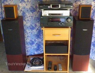 Enceintes,magnetoscope,ampli/tuner,platine CD