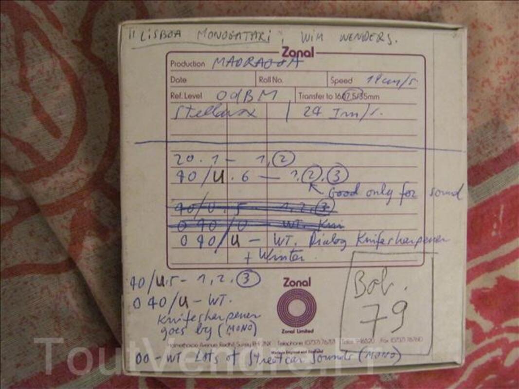 Enregistrements SON film LISBON STORY(Wim Wenders) 73113609