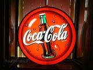 Enseigne coca-cola lumineuse