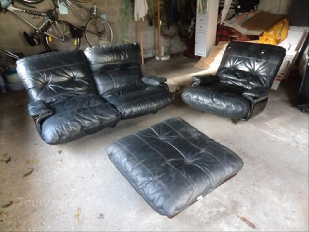 Ensemble canapé + fauteuil + pouf 54460383