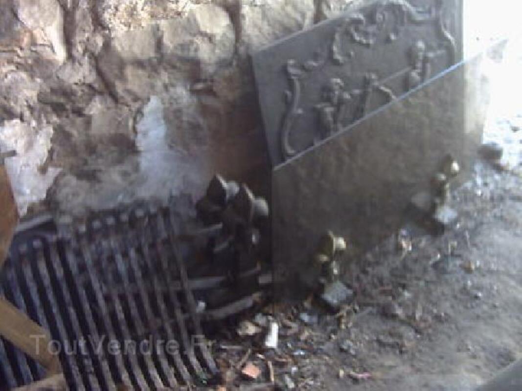 Ensemble cheminee chenets grille etc 102506030