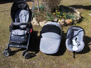 Ensemble poussette, nacelle et siège auto Bébé Confort