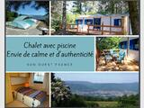 Envie de calme: chalet en pleine nature, piscine, SO Fr.