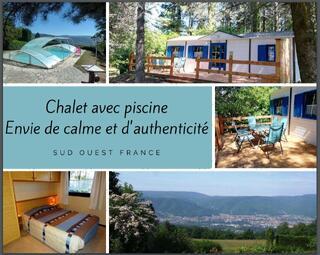 ENVIE DE CALME: chalet en pleine nature, piscine, SO France