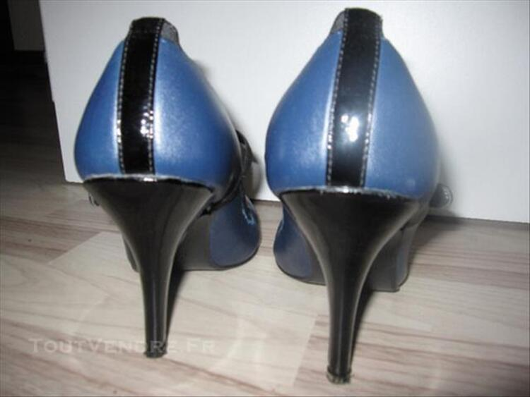Escarpins Eden noir et bleu marine 84768216