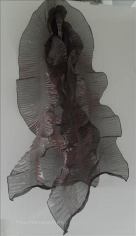 Etole ,écharpe ,voile froncé chocolat ,180cm x 45cm 76604688