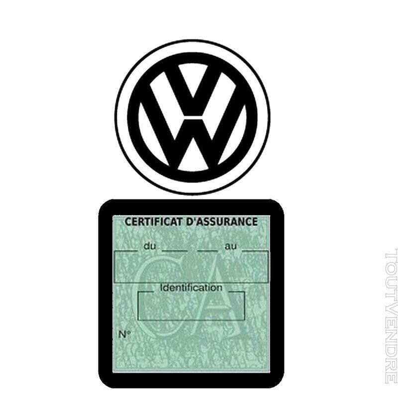 Etui vignette assurance voiture LOGO VW VOLKSWAGEN 650691583