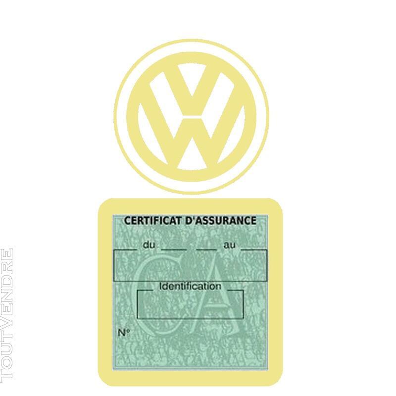 Etui vignette assurance voiture LOGO VW VOLKSWAGEN 650691586