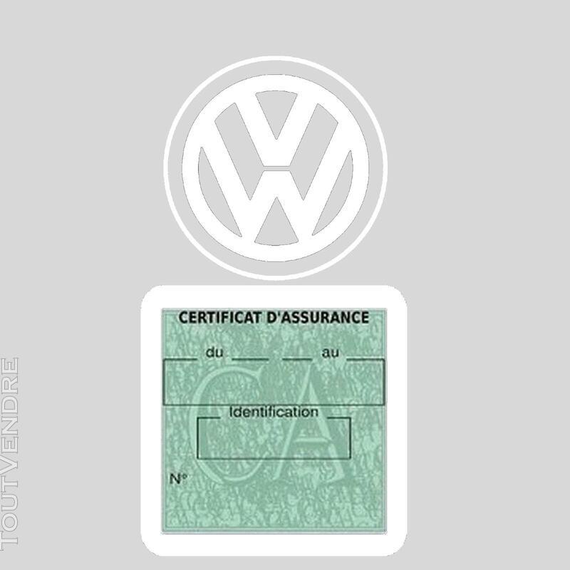 Etui vignette assurance voiture LOGO VW VOLKSWAGEN 650691589