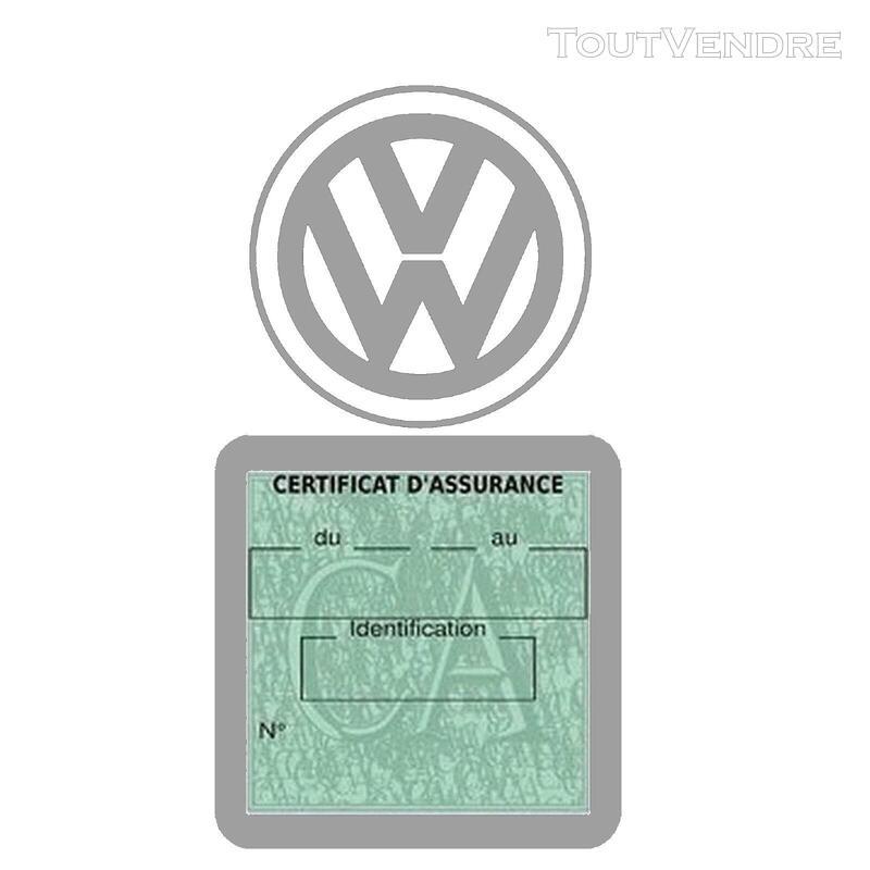 Etui vignette assurance voiture LOGO VW VOLKSWAGEN 650691592