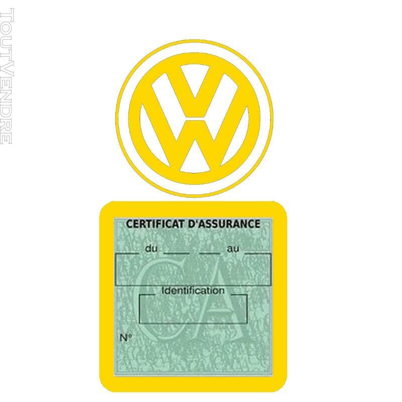 Etui vignette assurance voiture LOGO VW VOLKSWAGEN 650691595