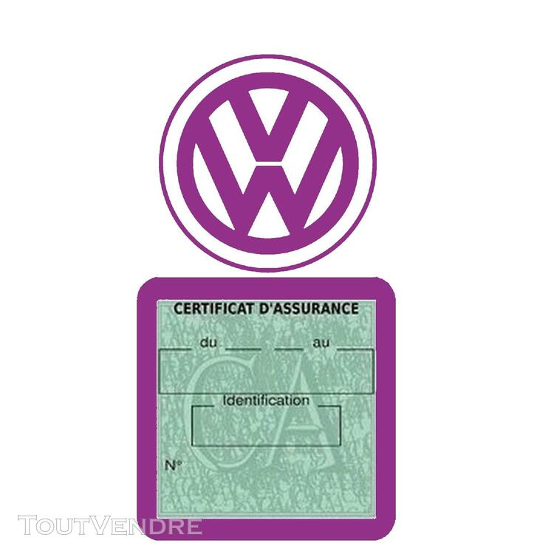 Etui vignette assurance voiture LOGO VW VOLKSWAGEN 650691598