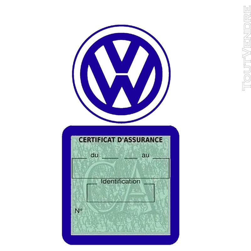 Etui vignette assurance voiture LOGO VW VOLKSWAGEN 650691604