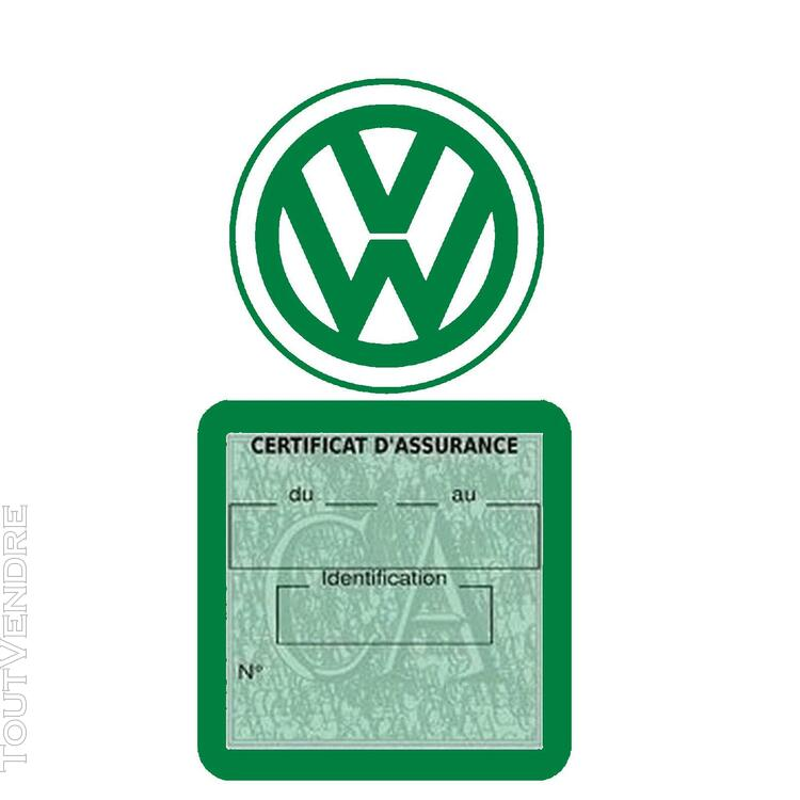 Etui vignette assurance voiture LOGO VW VOLKSWAGEN 650691607