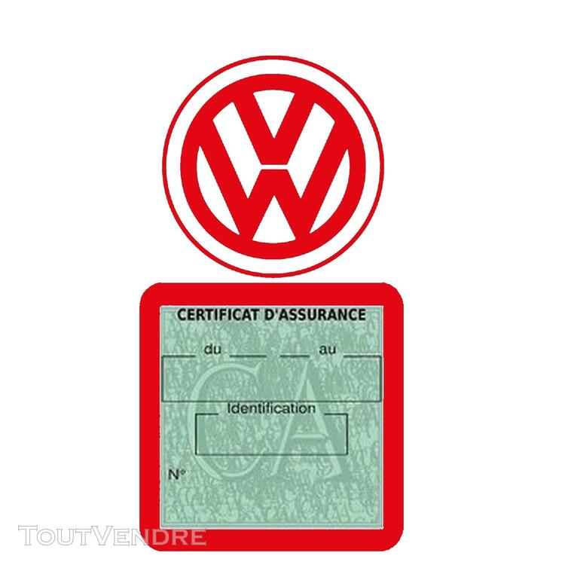 Etui vignette assurance voiture LOGO VW VOLKSWAGEN 650691610