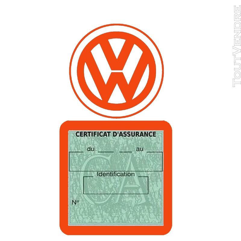 Etui vignette assurance voiture LOGO VW VOLKSWAGEN 650691613